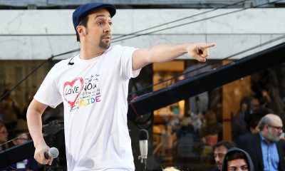 Lin-Manuel Miranda performs at Rockefeller Plaza