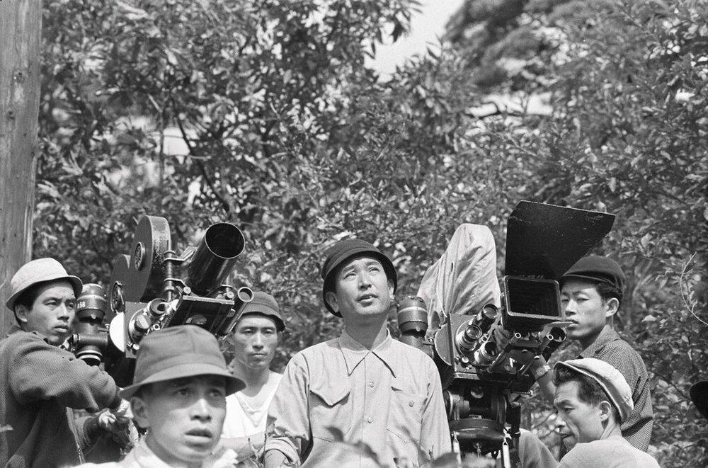 Akira Kurosawa Filming Seven Samurai