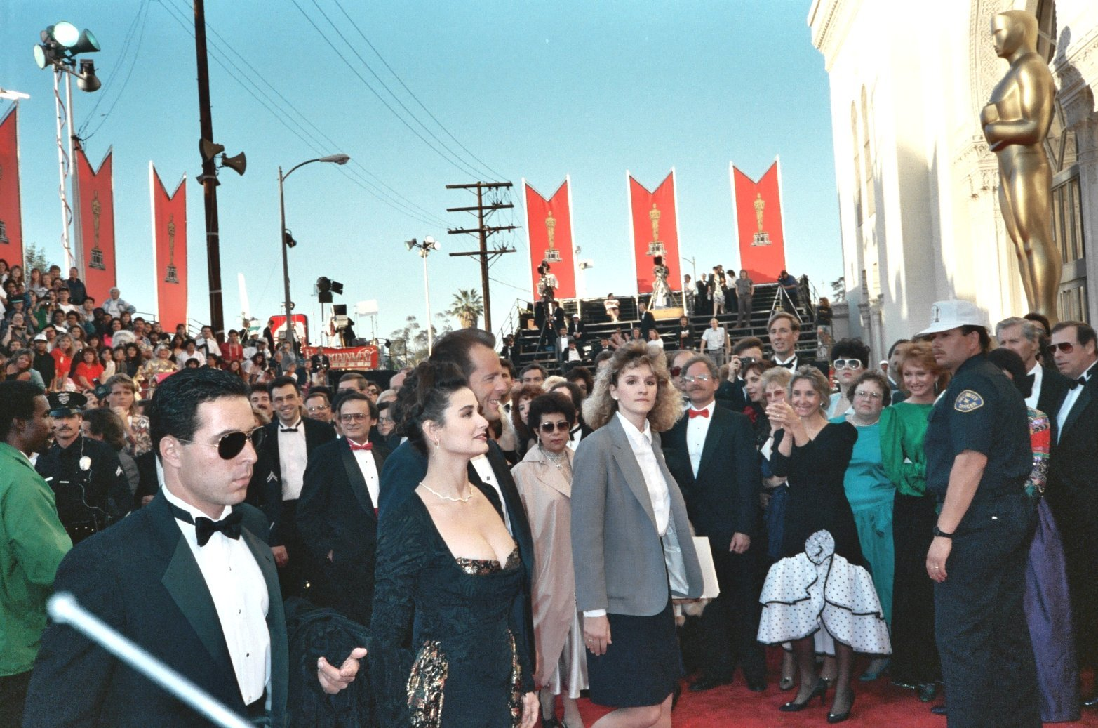 Demi Moore and Bruce Willis at the 61st Annual Academy Awards 1989