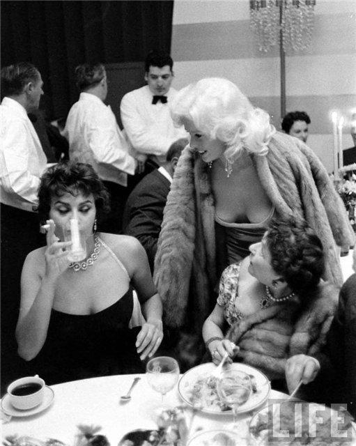 Sophia Loren Jayne Mansfield Romanoffs Restaurant 4