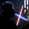 Obi-Wan Kenobi and Darth Vader duel