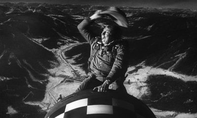 Slim Pickens Riding Bomb in Dr. Strangelove Movie