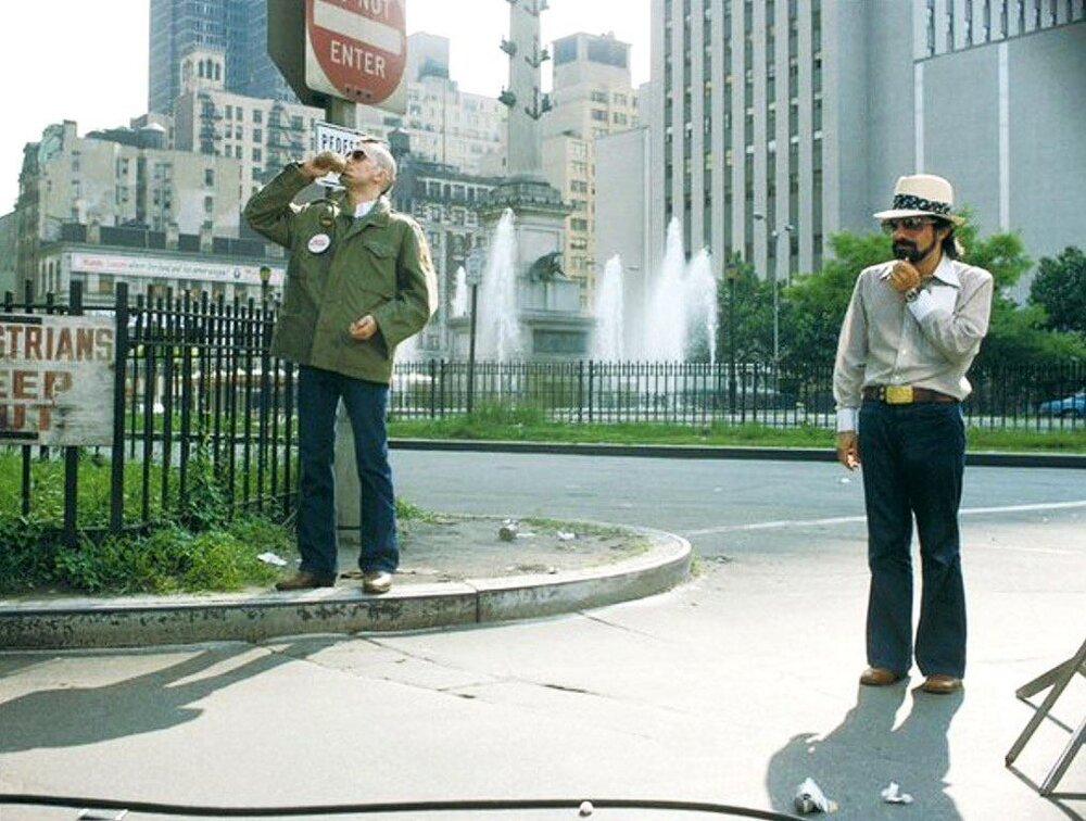 Robert De Niro and Martin Scorsese Taxi Driver 1976