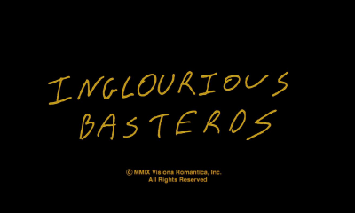 Inglourious Basterds Title Card