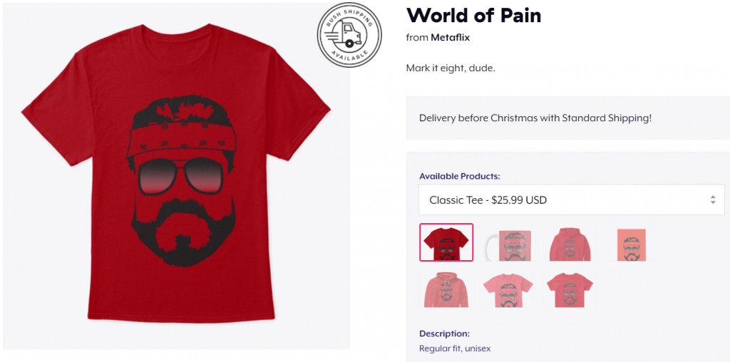 World of Pain Metaflix T-Shirt
