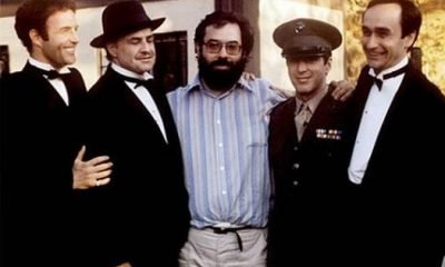 Actors and Coppola on Godfather Set