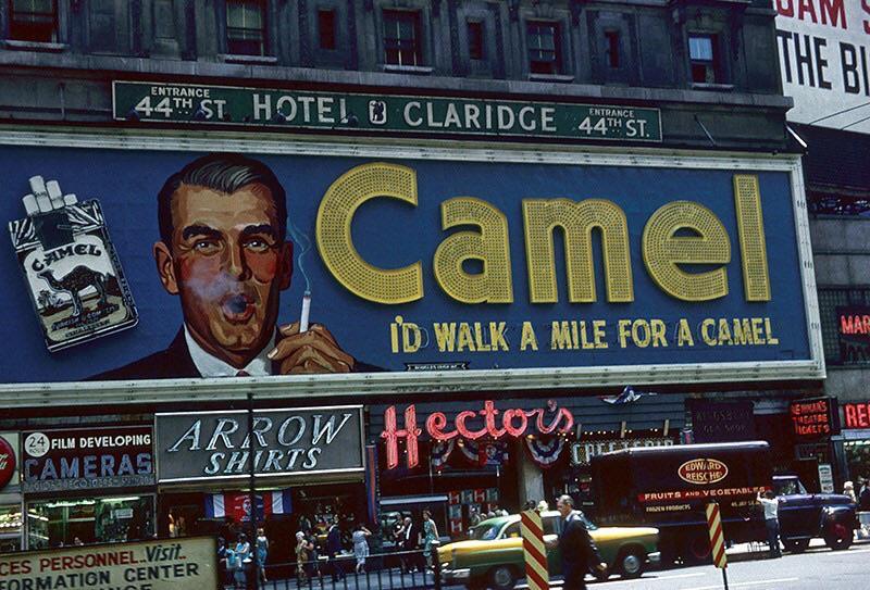 Id Walk a Mile for a Camel Billboard