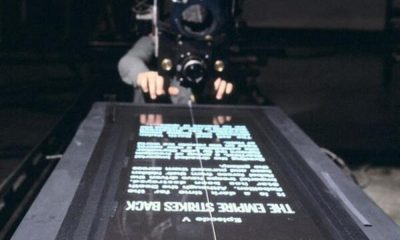 Star Wars opening crawl behind the scenes