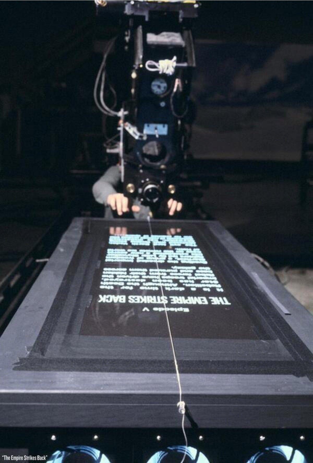 Star Wars opening crawl behind the scenes