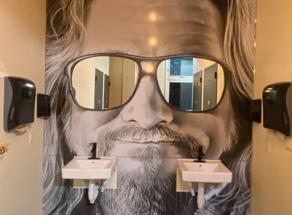 Big Lebowski Bathroom Wall