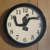 Monty Python Silly Walks Wall Clock