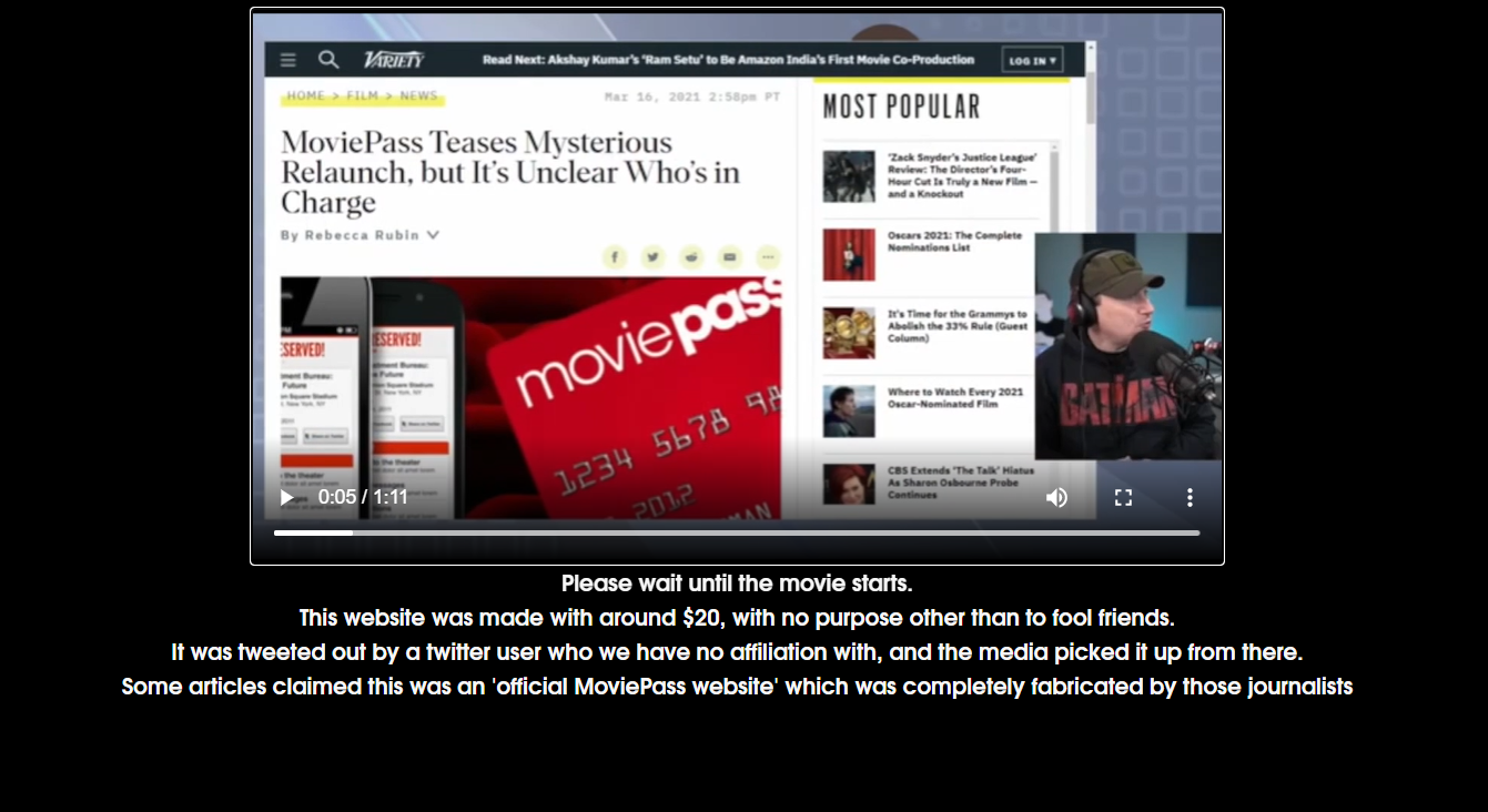 MoviePass Ventures Hoax