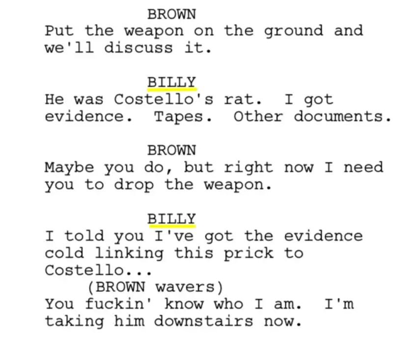 Departed The Script