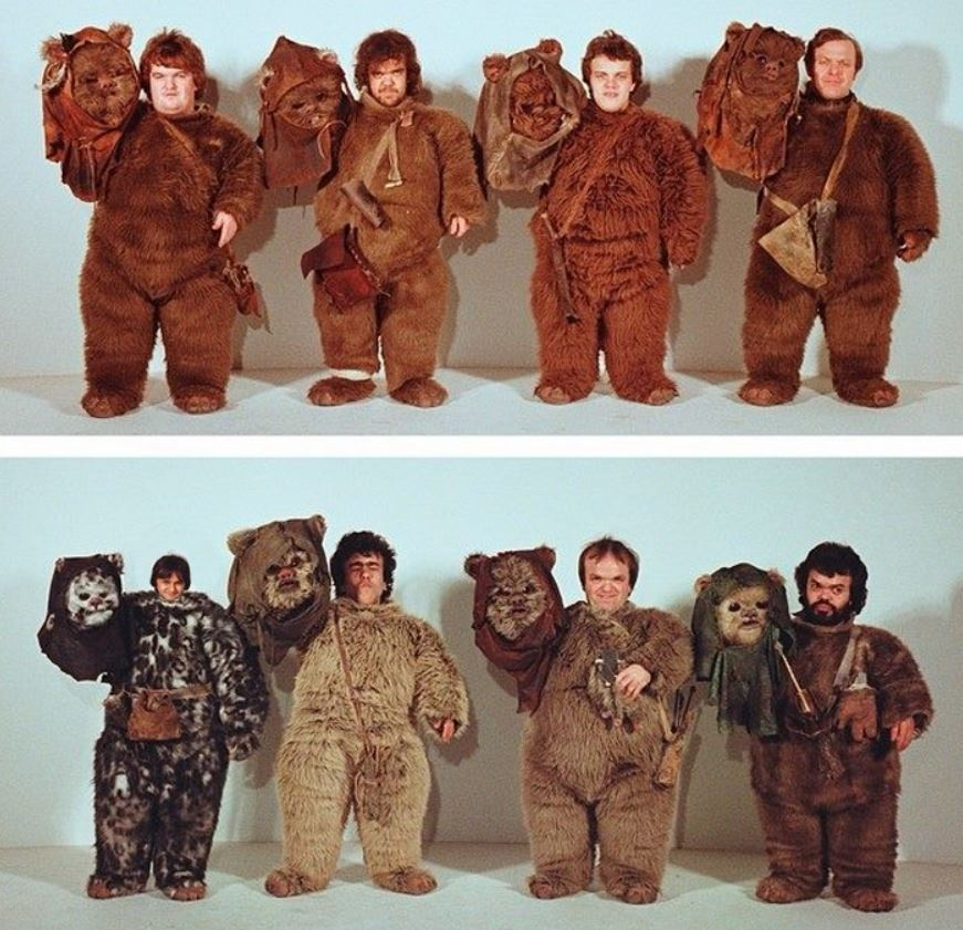 Ewok Actors Costume Test