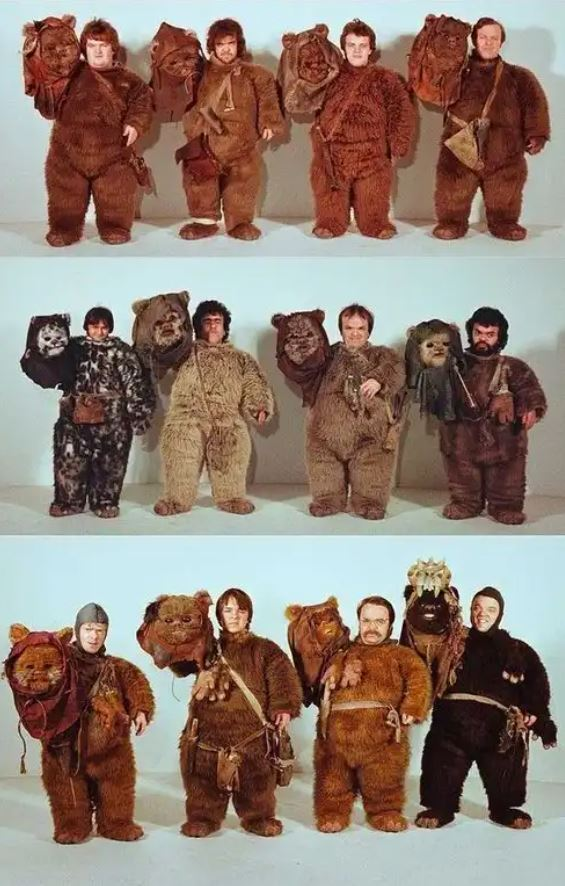 Ewok Actors Inside Costumes