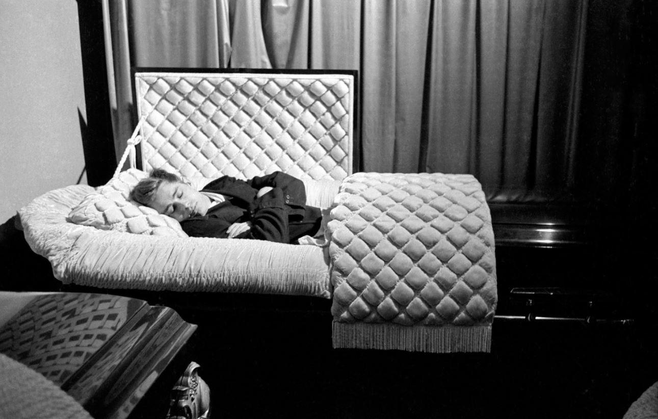 James Dean Funeral Parlor Casket 1955