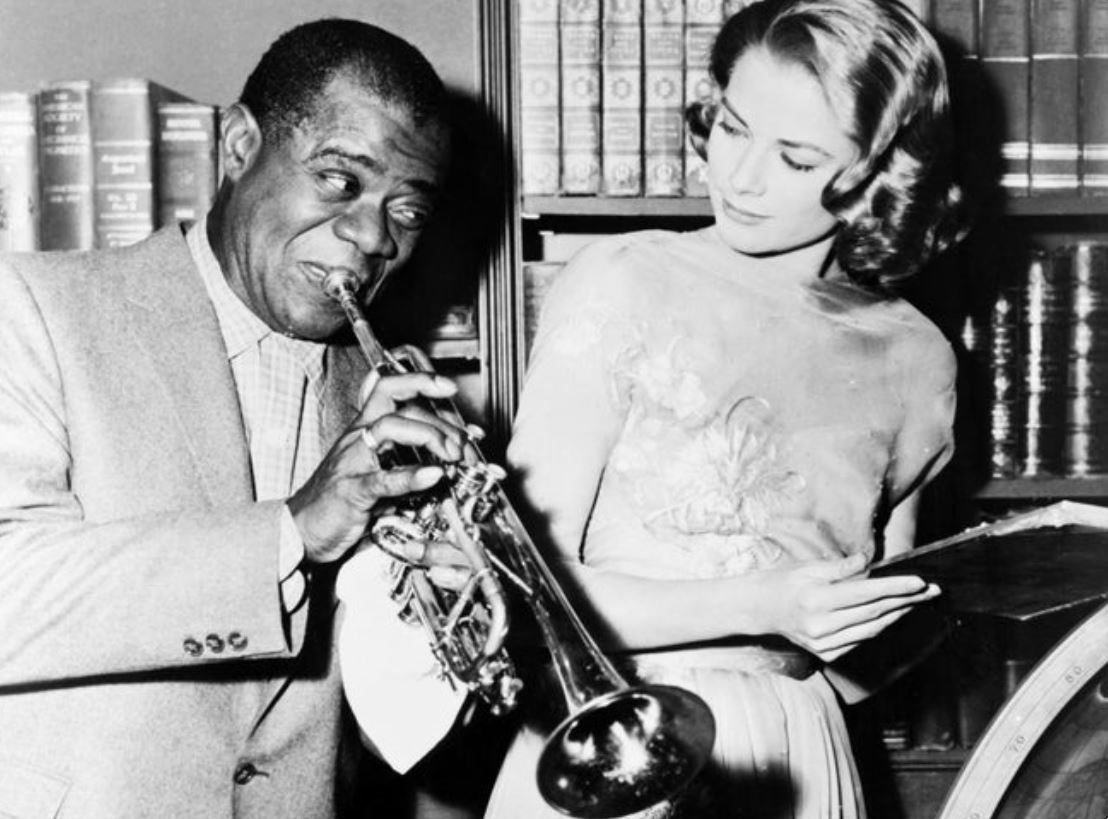 Louis Armstrong and Grace Kelly 1956