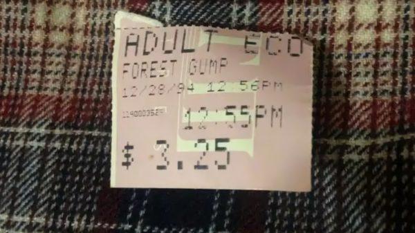Forrest Gump Ticket Stub 1994
