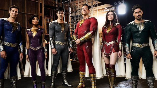 Cast photo for Shazam Fury of the Gods releases