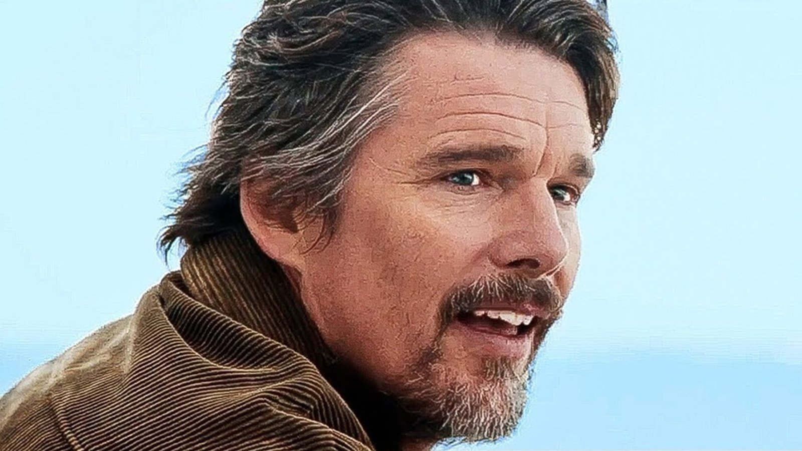 ethan hawke knives out 2 ponytail photos