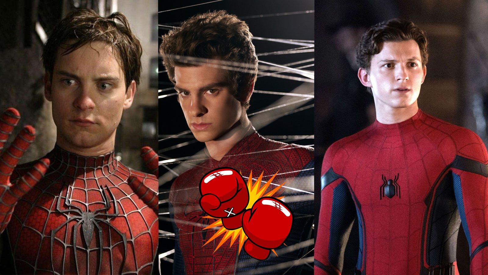 Film Fight Tobey Maguire Andrew Garfield Tom Holland Funniest Spider-Man