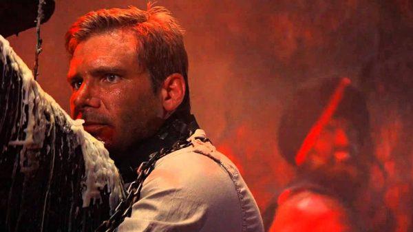 Indiana Jones Temple of Doom Barbra Streisand whip on Set
