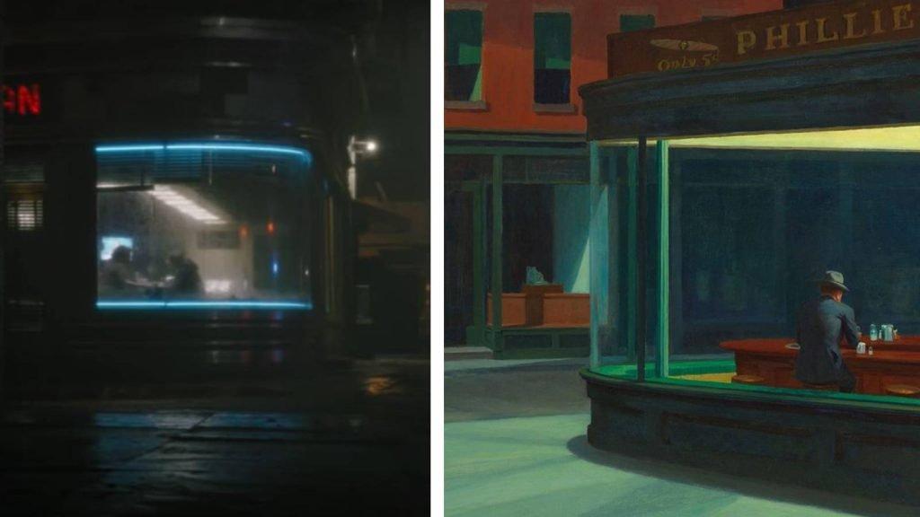 The Batman Edward Hopper Nighthawks